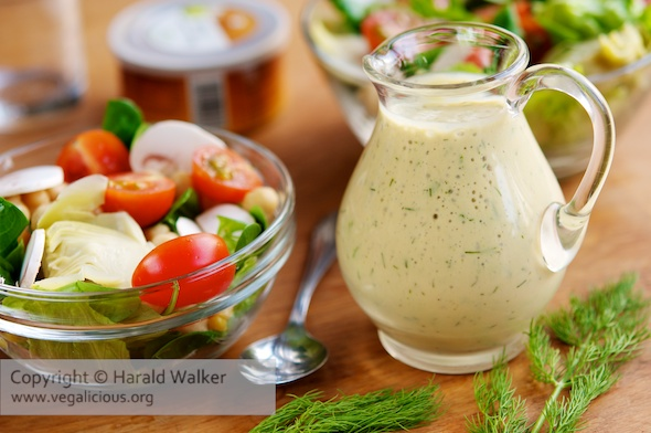 Creamy Vegan Maple Mustard Dill Dressing