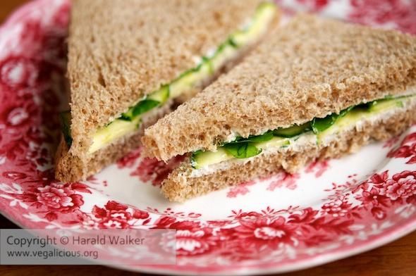 Vegan Watercress Tea Sandwiches