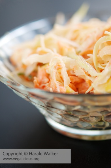 Mango and Carrot Coleslaw
