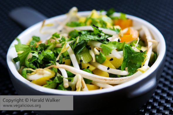Mango-Pea Salad with Sesame Dressing