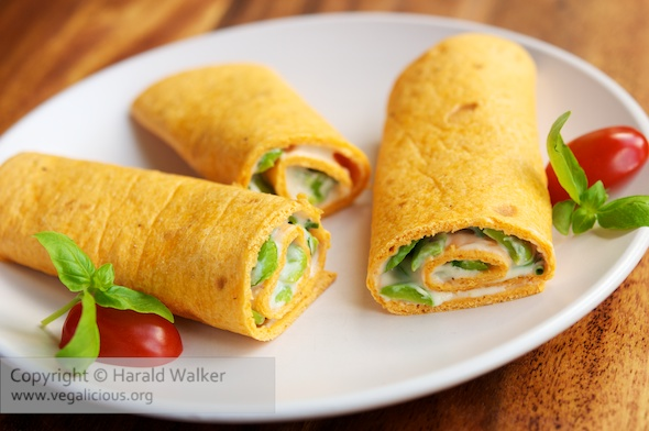 Fava Bean and Vegan Cream Cheese Wraps