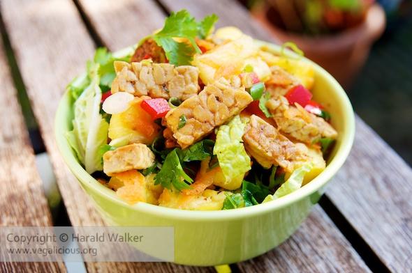 Pineapple Tempeh Salad