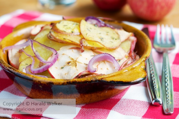 Potato, Apple and Onion Gratin