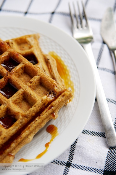 Spiced Carrot Waffles