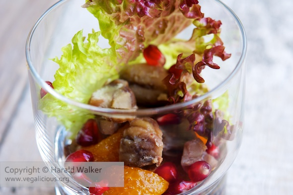 Chestnut and Mandarin Orange Salad