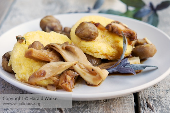 Polenta with chestnuts and Mushrooms