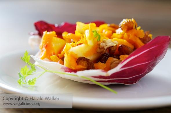 Pumpkin Apple Raisin Salad