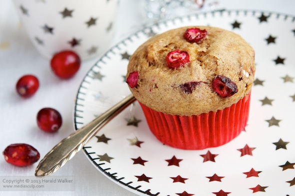 Vegan Cranberry Apple Muffins