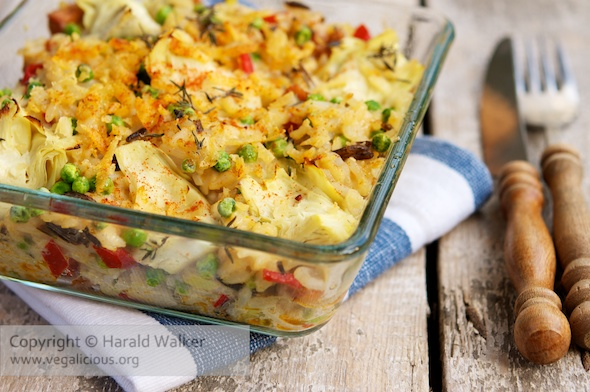 Artichoke and Spicy Tofu Casserole