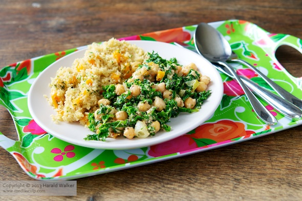 Cosmic Cashew Kale and Chickpeas