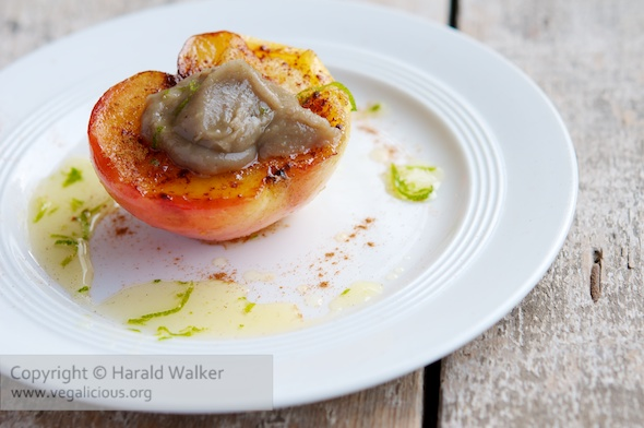 Sauteed Apples Filled with Sweet Chestnut Puree