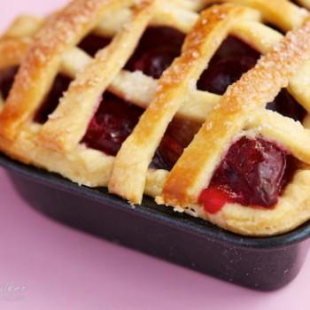 Valentine's Day Rhubarb Cherry Pie