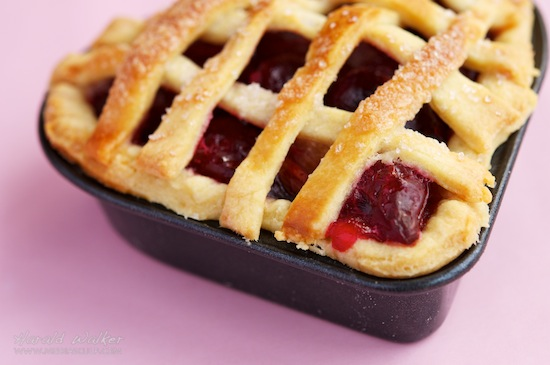 Valentine's Day Rhubarb Cherry Pie