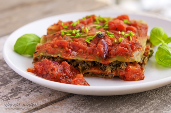 Kale and Spinach Lasagna