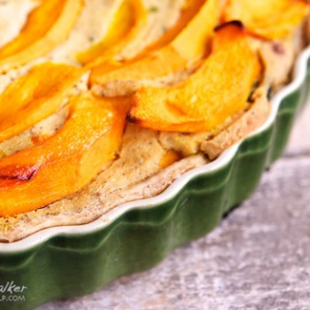 Vegan Pumpkin and Spinach Quiche