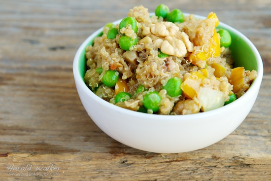 Walnut, Pea and Rosemary Quinoa Salad