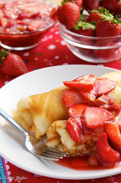 Strawberry and Rhubarb Blini