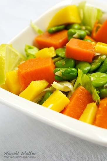 Sweet Potato, Mango and Fava Bean Salad