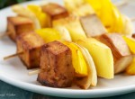 Teriyaki Tofu and Pineapple Kebabs