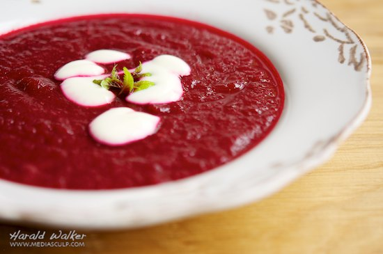 Beet and Rhubarb Soup