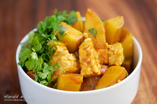 Potato and Tempeh Curry
