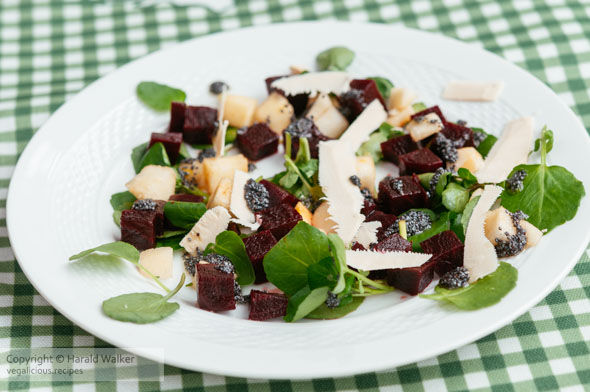 Beet and Pear Salad On Watercress