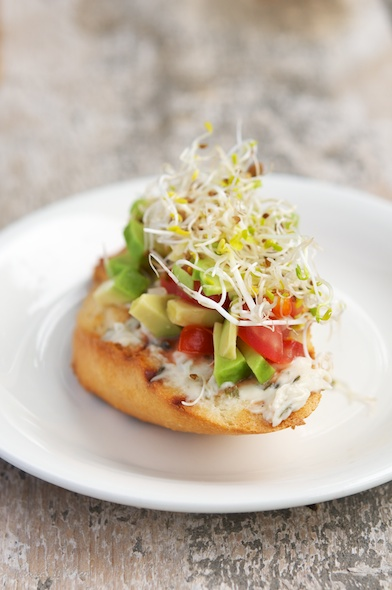 Tomato and Avocado Salsa Bruschetta