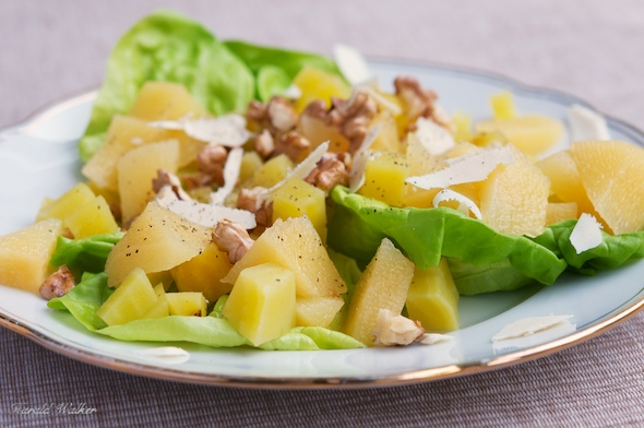 Yellow Beet and Quince Salad