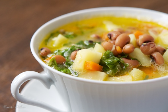 Parsnip and Blackeyed Bean Soup