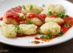 Rutabaga Gnocchi with Roasted Pepper Sauce