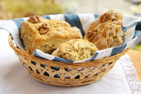 Vegan Savory Double-Walnut Scones