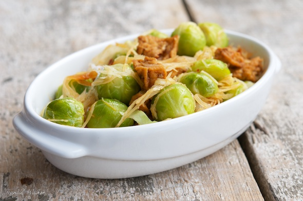 Winter Stir Fry with Cabbage and Brussels Sprouts