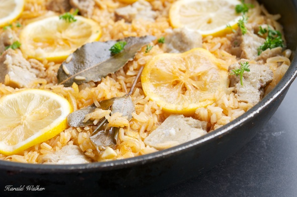 Seitan and Rice Pilaf with Sweet Paprika and Lemon