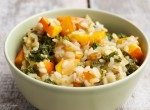 Winter Squash and Kale Risotto with Golden Raisins