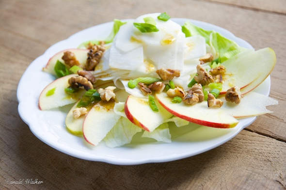 White Turnip and Apple Salad with Walnuts
