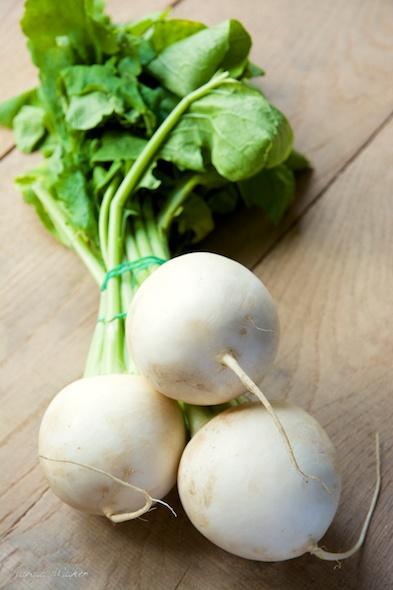 Fresh May turnips