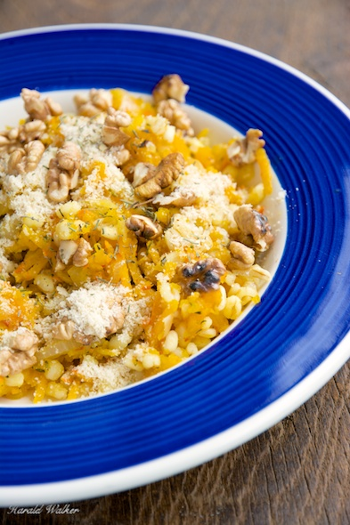 Winter Squash, Barley Orzotto with Toasted Walnuts