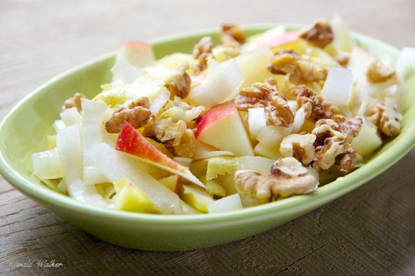 Belgian Endive Apple Pineapple And Walnut Salad