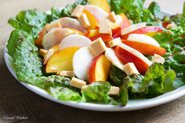 Nectarine and Purple Turnip Salad