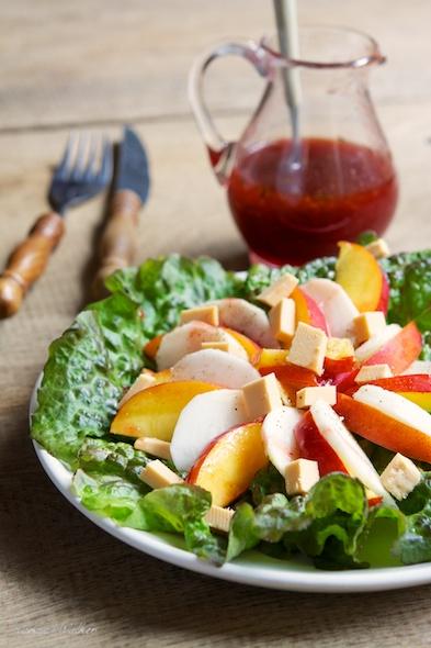 Nectarine and Purple Turnip Salad