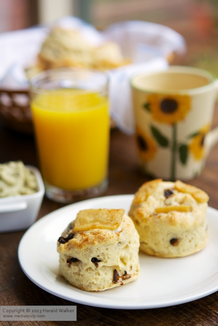 Mushroom Biscuits with Vegan Cheese- Click here to license this image from Stocksy