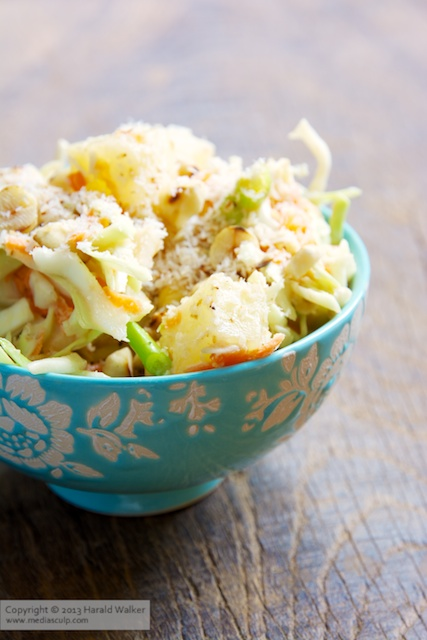 Pineapple Hazelnut Slaw - Click here to license this image from Stocksy