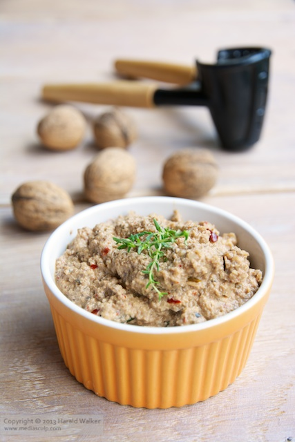 Mushroom and Walnut Pate - Click here to license this photo from Stocksy