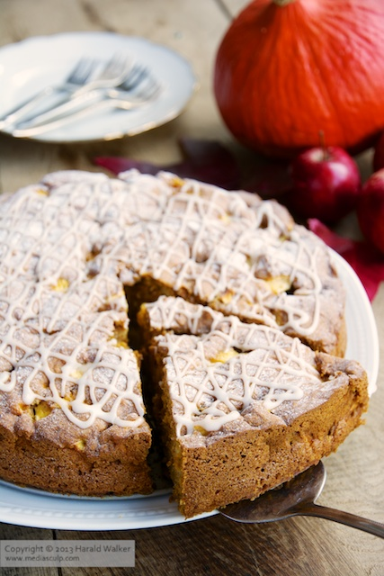 Pumpkin apple cake - Click here to license this image from Stocksy