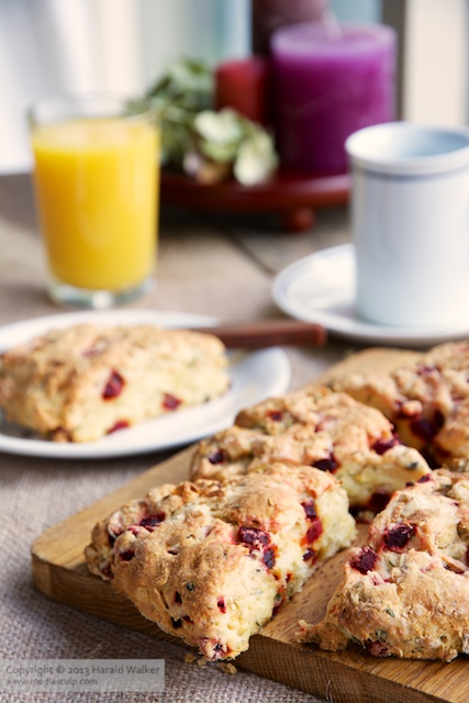 Savory Beet and Vegan Feta Scones - Click here to license this photo from Stocksy