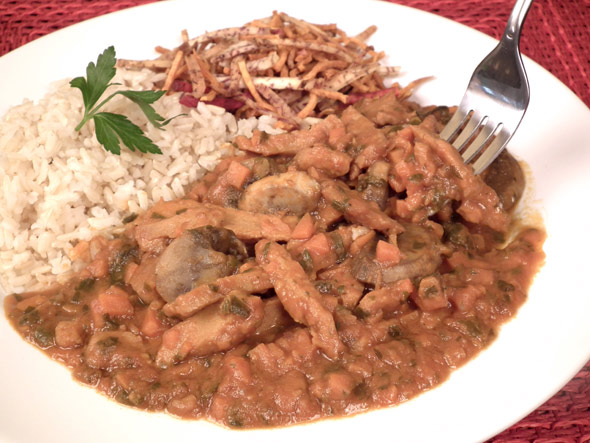 Vegan Brazilian Stroganoff by Ursula Escher