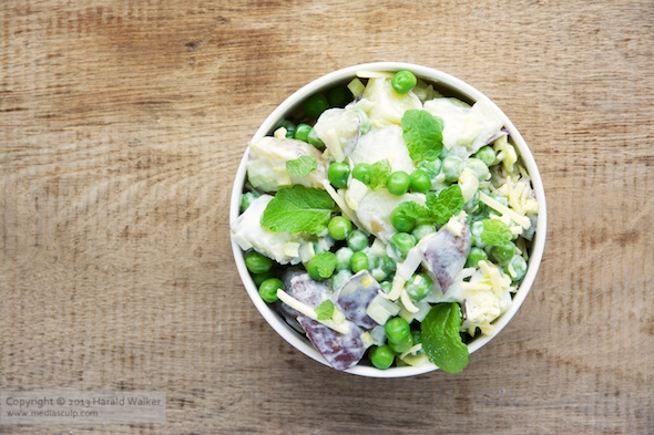 Minty Pea and Potato Salad « Vegalicious Recipes