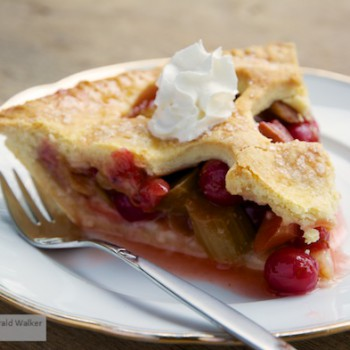 Rhubarb and Red Gooseberry Pie