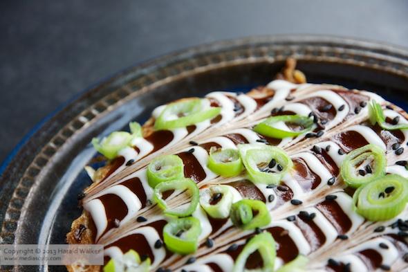 Okonomiyaki - Japanese Cabbage Pacake