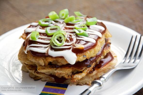 Okonomiyaki - Japanese Cabbage Pacakes